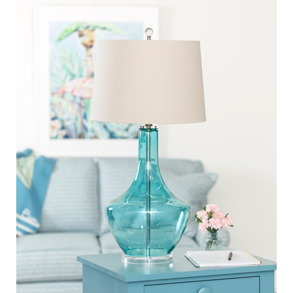 Margot Table Lamp - Blue Glass | Lighting by Maine Cottage ...