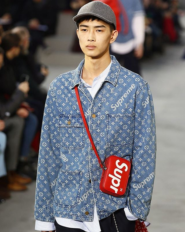 aad68fcaa2bfd Louis Vuitton just unveiled its collaboration with cult skatewear brand  Supreme. See all the looks