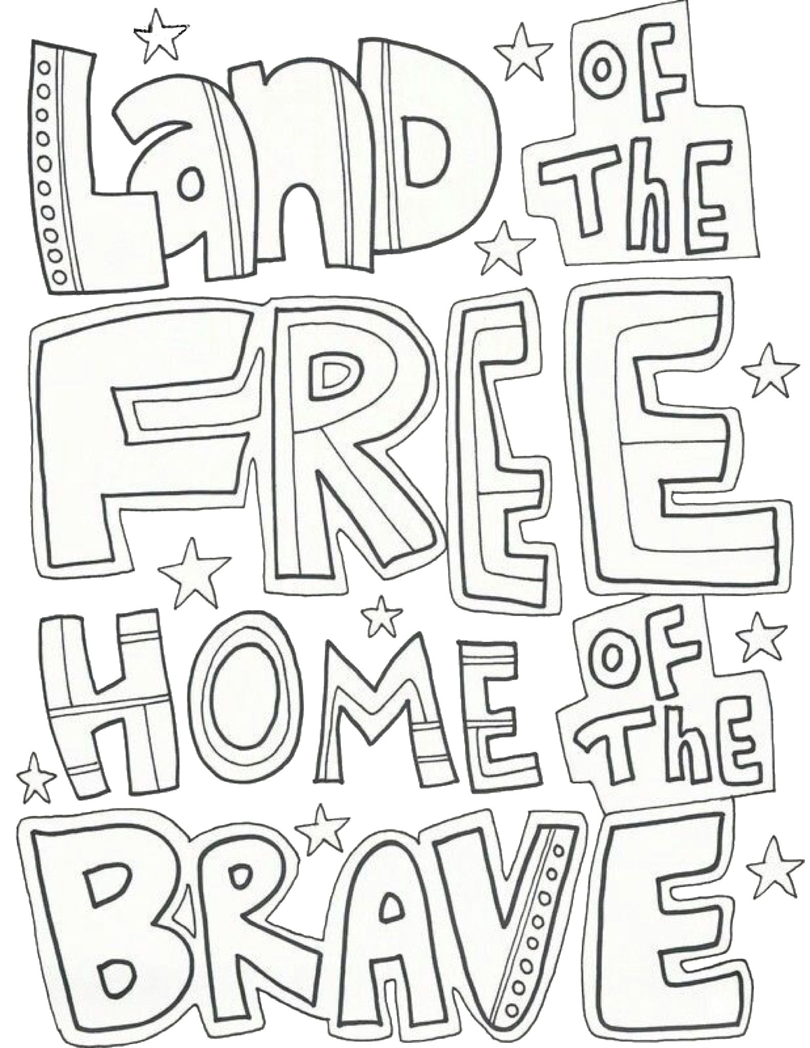 Fourth Of July Free Printable Coloring Page Memorial Day