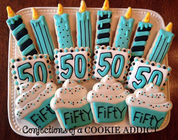 50th Birthday Cookie Platter
