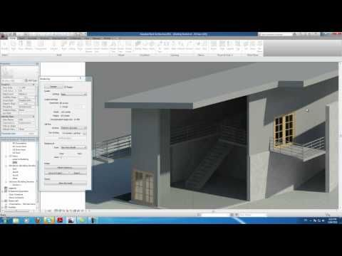Autodesk Revit Tutorials 20 Rendering The House With Images