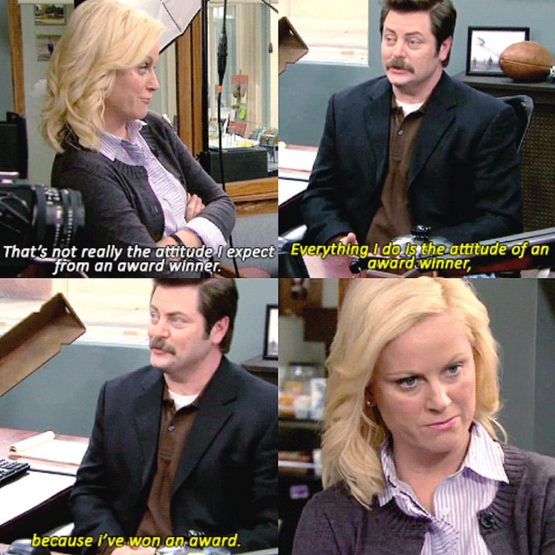 Ron teasing Leslie is the best