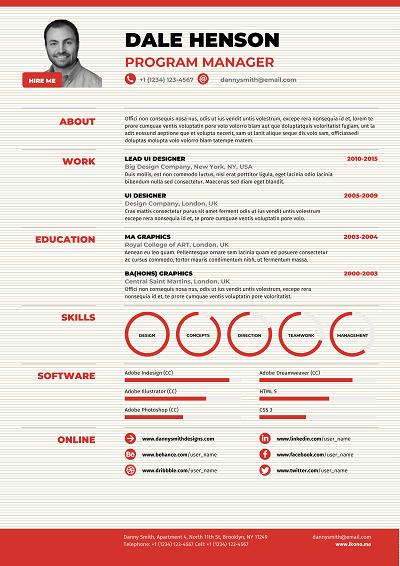 Jaffa Functional resume template, Functional resume