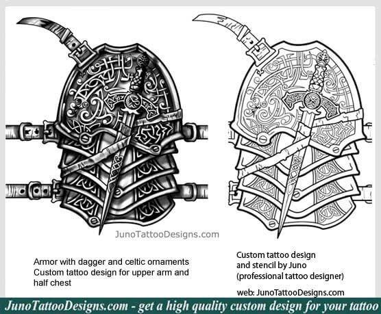 armor tattoo, celtic knot tattoo, chest tattoo, celtic tattoo, juno ...