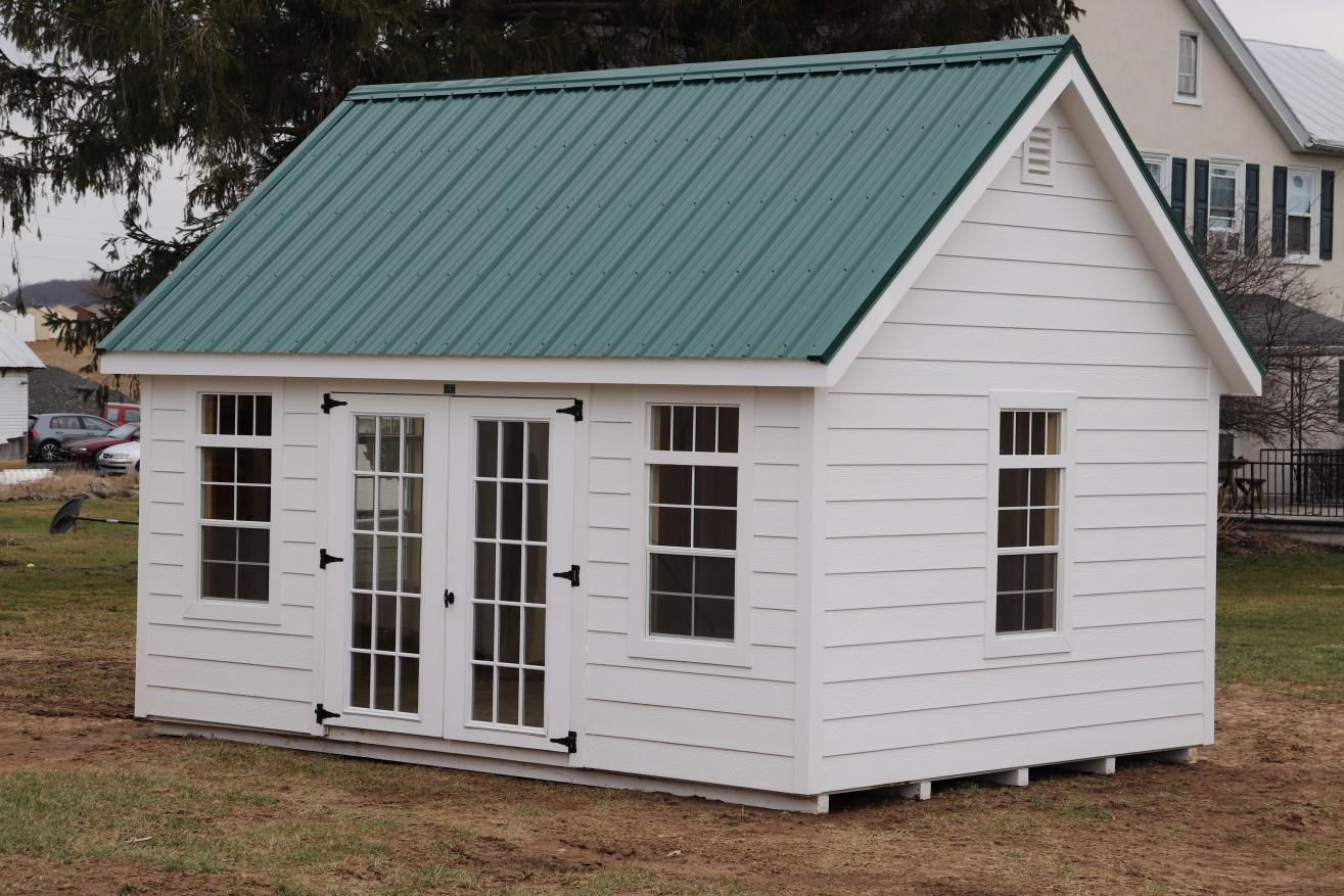 Standard Features 12x16 Workshop A Frame W Vinyl Siding Premier Garden Shed Collection Pressure Treated Sk In 2020 Shed Architectural Shingles Gable Roof Design