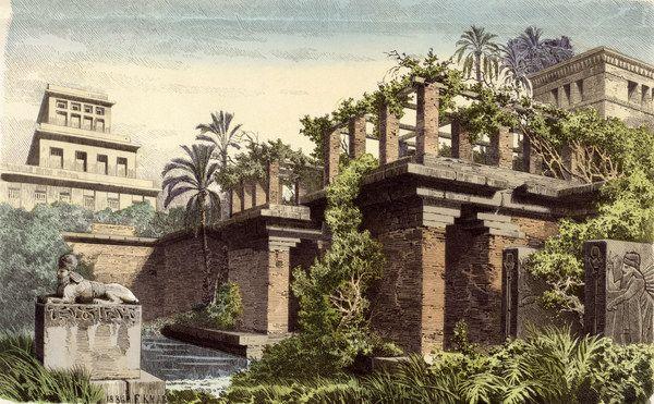 K Ferdinand Babylon Hangende Garten D Semiramis Gardens Of Babylon Hanging Garden Wonders Of The World