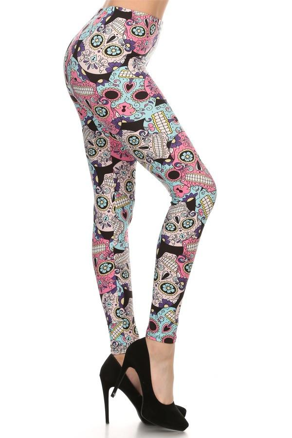 015944849e291d The sugar skull style has become a ubiquitous part of today's women's  fashion and our Pastel Sugar Skull Leggings are going to give your legs an  amazing new ...