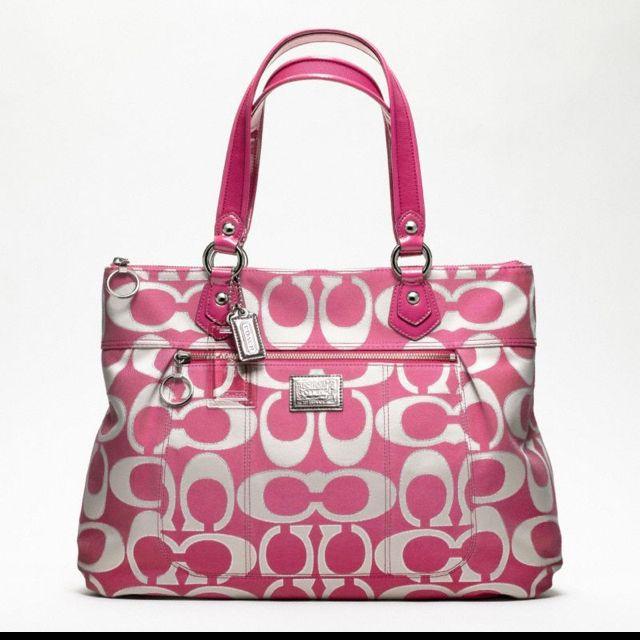 b6233d48f8525 pink   white coach purse