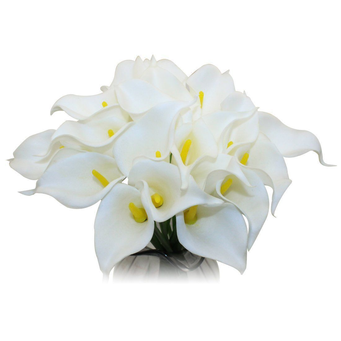 Decora White Latex Real Touch Lovely Artificial Calla Lily Wedding