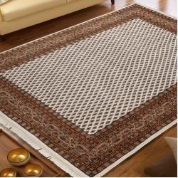 Photo of Handmade carpet in cream / BraunWayfair.de