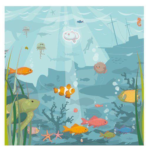 East Urban Home semi-gloss wallpaper sea landscape | Wayfair.de#east #home #landscape #sea #semigloss #urban #wallpaper #wayfairde