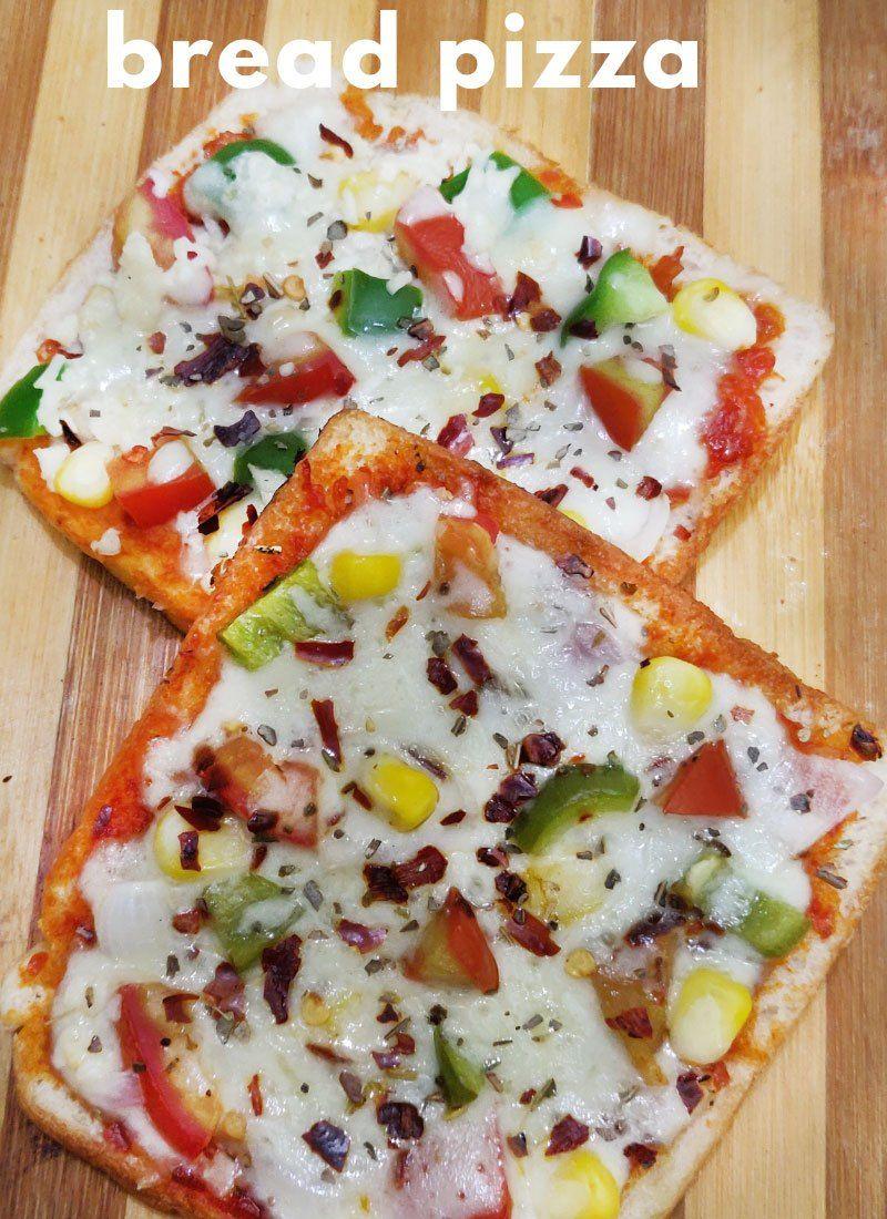 Bread Pizza Recipe On Tawa Bread Pizza Without Oven Instant Bread Pizza