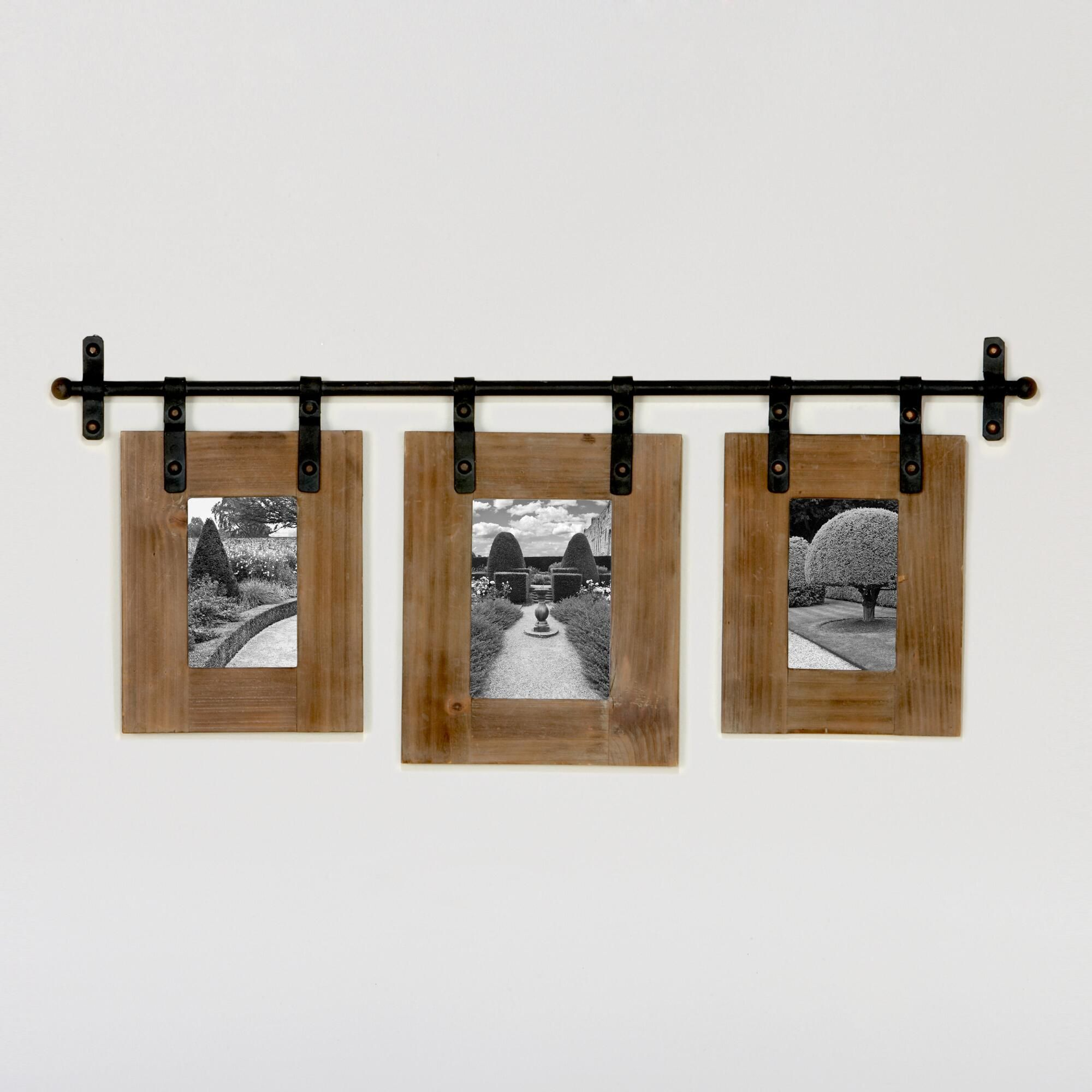 This Jacob 3-Photo Wall Frame lets you design your own triptych, a ...