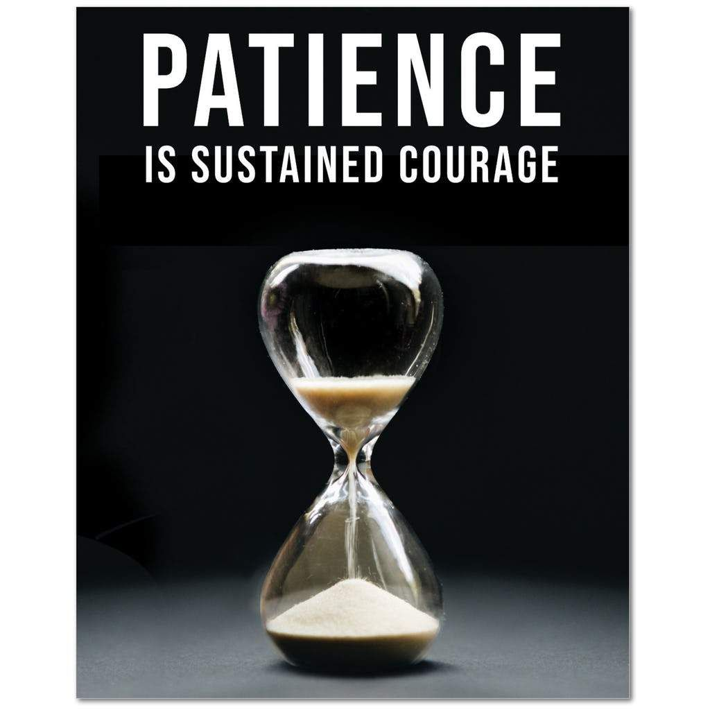 Patience Is Sustained Courage Wall Street Trading Quote Money