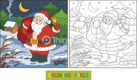clipart vectoriel coloring book game for children santa claus
