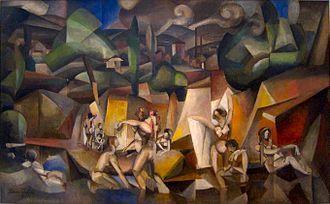 Albert Gleizes, 1912, Les Baigneuses (The Bathers), oil on canvas, 105 x 171 cm, Musée d'Art Moderne de la Ville de Paris