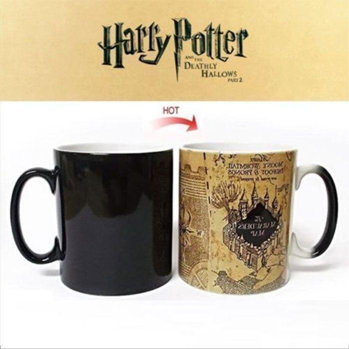 Harry Potter Mug Marauders Map Harry Potter Map Magic Mug Mischief Managed Mug Harry Potter Marauders Map Tea Cup Gifts Mischief Managed Mug