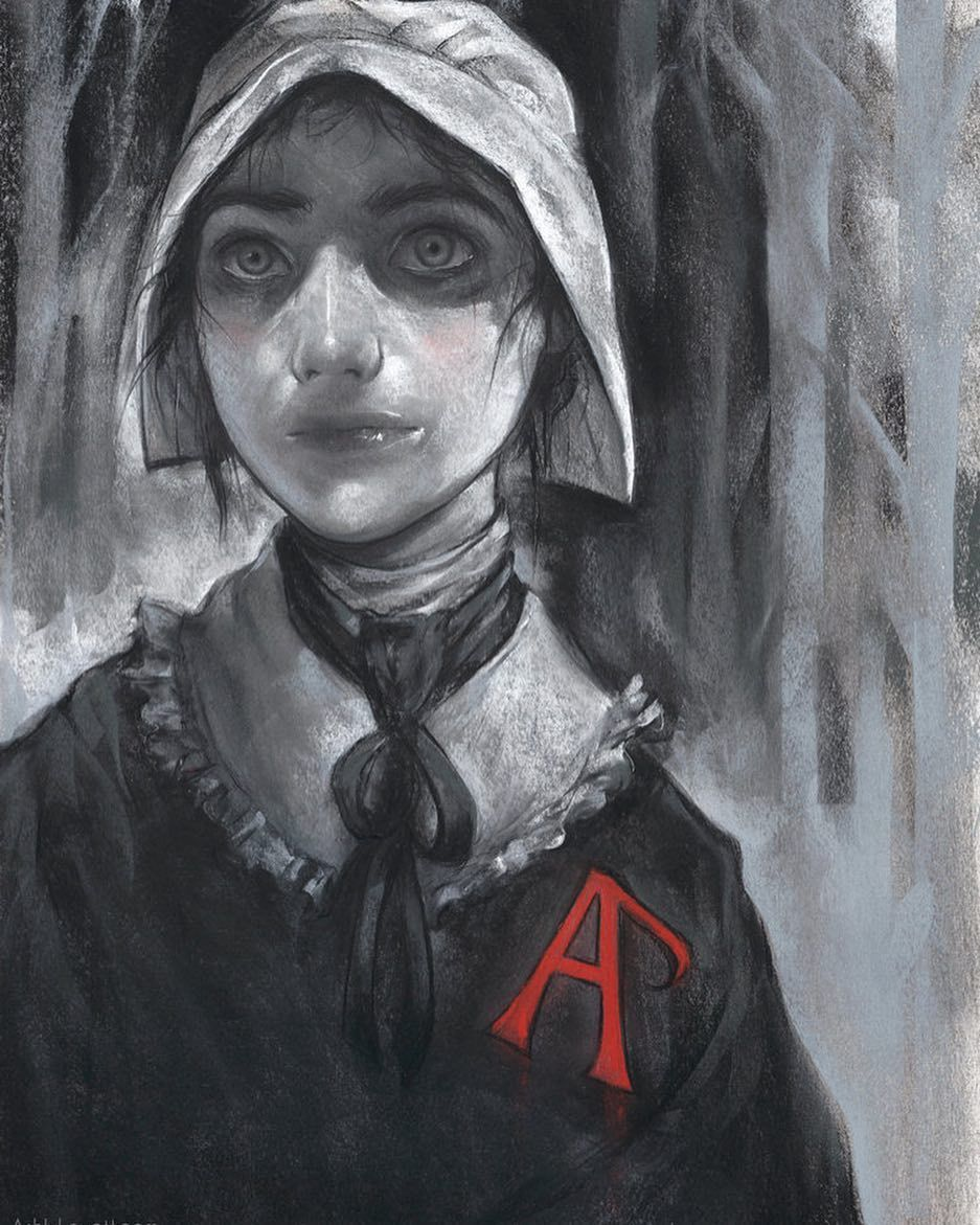 """Hester Prynne from the classic novel """"The Scarlet Letter"""
