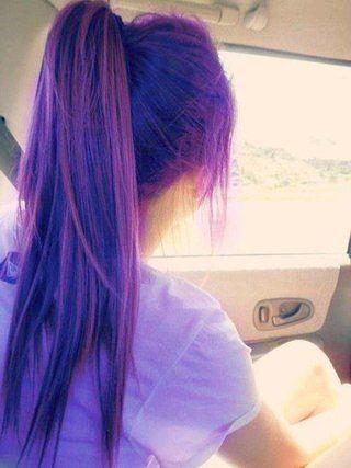 Purple Hair Via Tumblr Hair With Images Green Hair Dye My Hair Dyed Hair