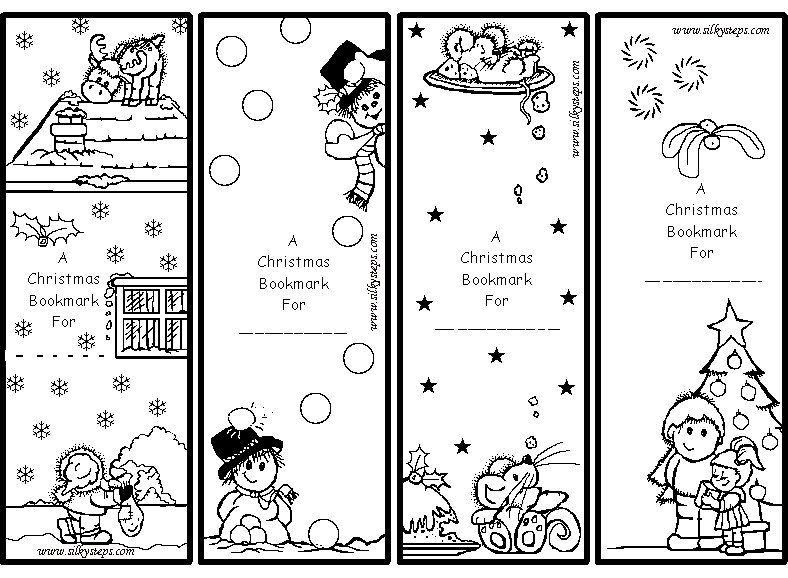 color me gift bookmarks for kids printable christmas – Christmas Bookmark Templates