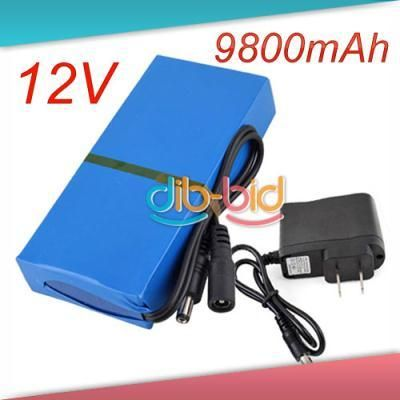 New Dc 12v Portable 9800mah Li Ion Super Rechargeable Battery Pack 2 Battery Pack Rechargeable Batteries Battery