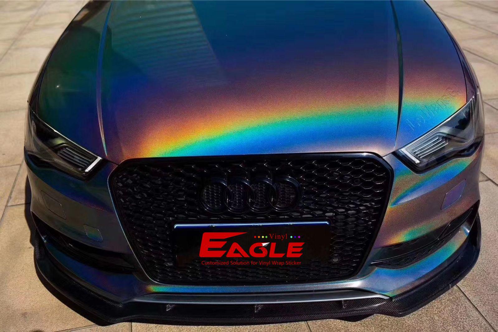 Eagle Vinyl Gloss Rainbow Metallic Dark Gray Vinyl Vinyl Graphics Vinyl Wrap
