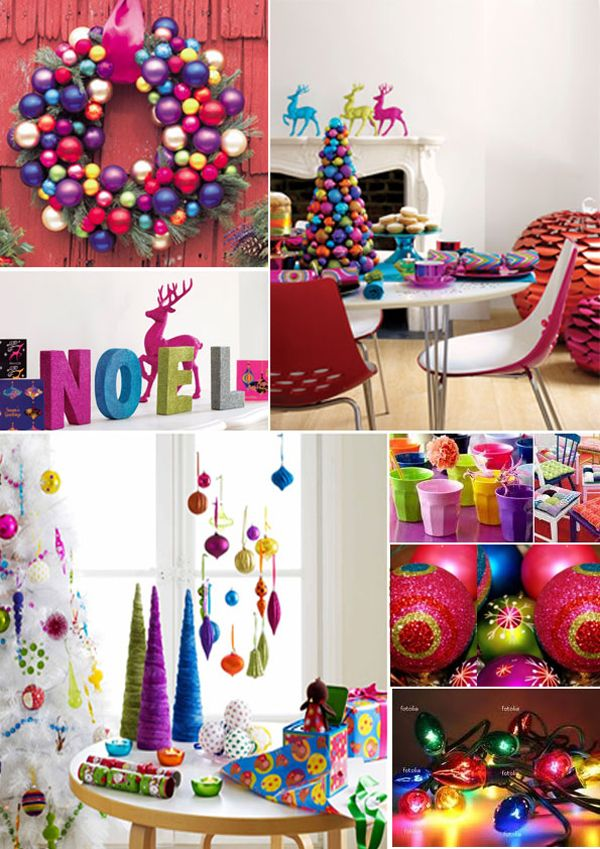 love me some bright girly colors like this and actually mine all are like this buuuut since landon is getting older i think i may need to go less girly - Colorful Christmas Decorations