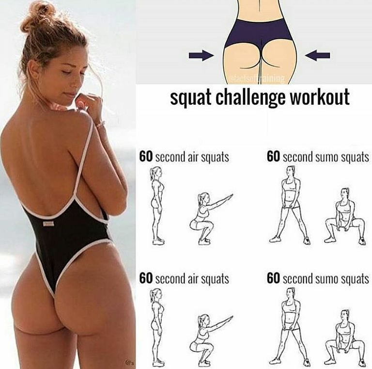 Health Tips Girls Workout Fit Squat Booty Fitness