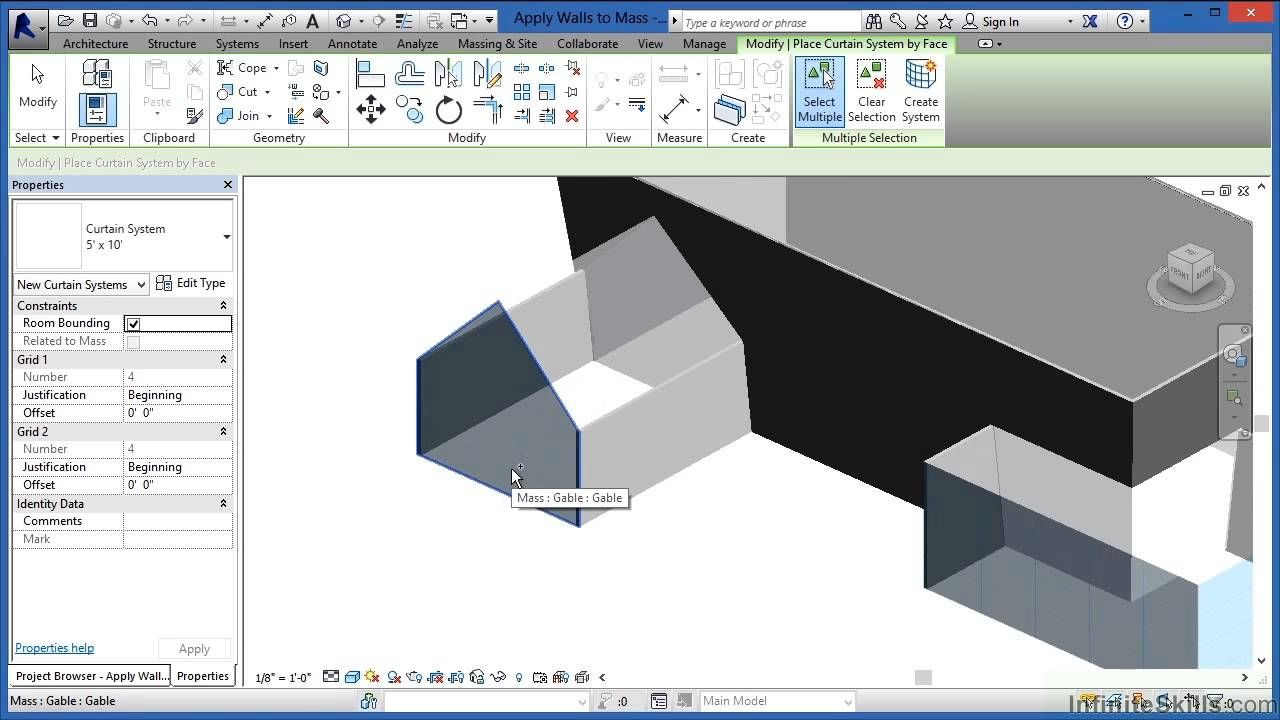 Advanced Revit Architecture 2014 Tutorial | Applying Walls To The