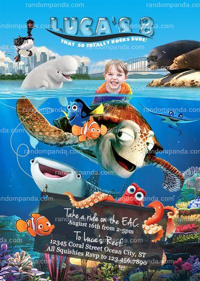 Personalize Finding Dory Invitation Hank Party Nemo Birthday