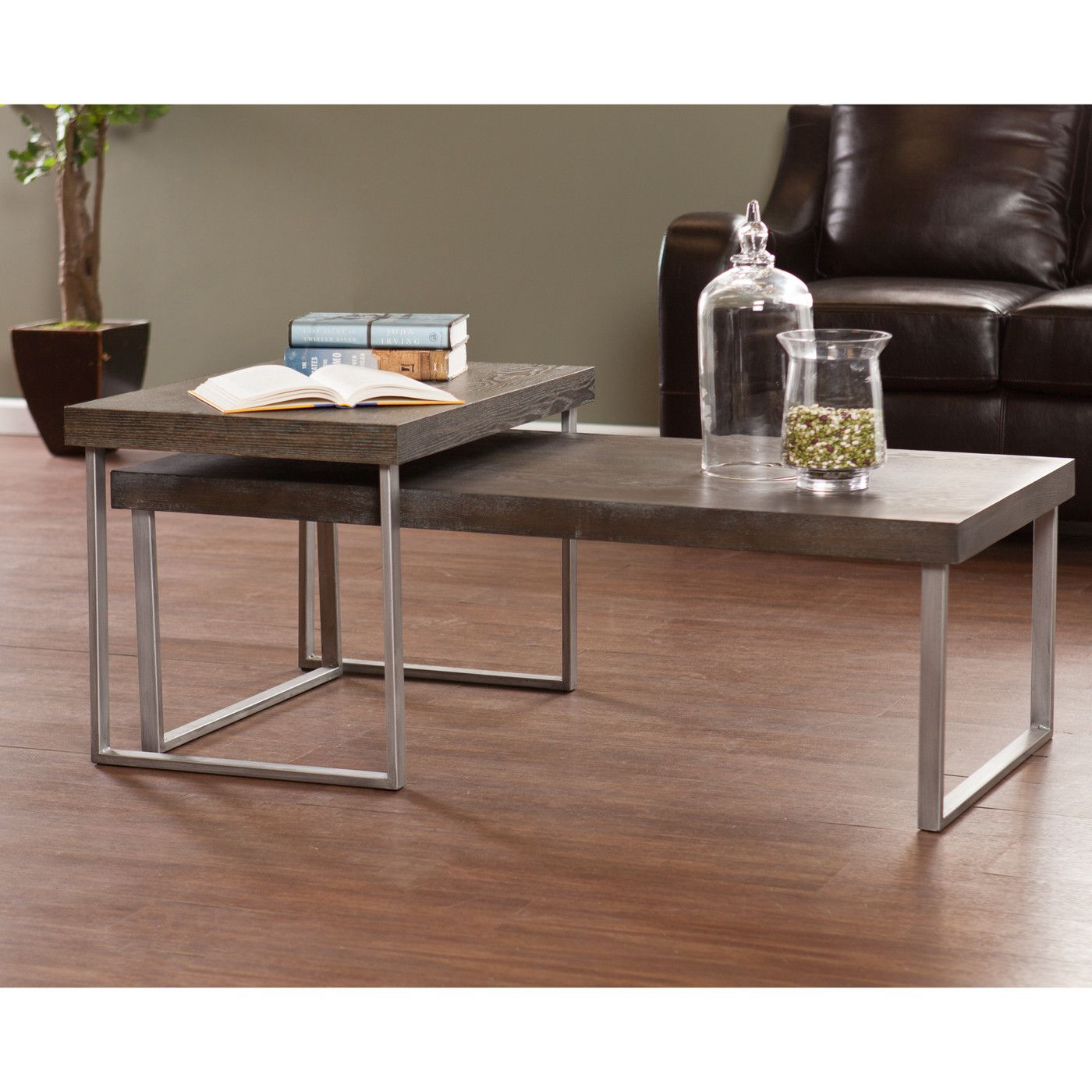 Best Wildon Home ® Newberry 2 Piece Nested Coffee Table Set 400 x 300