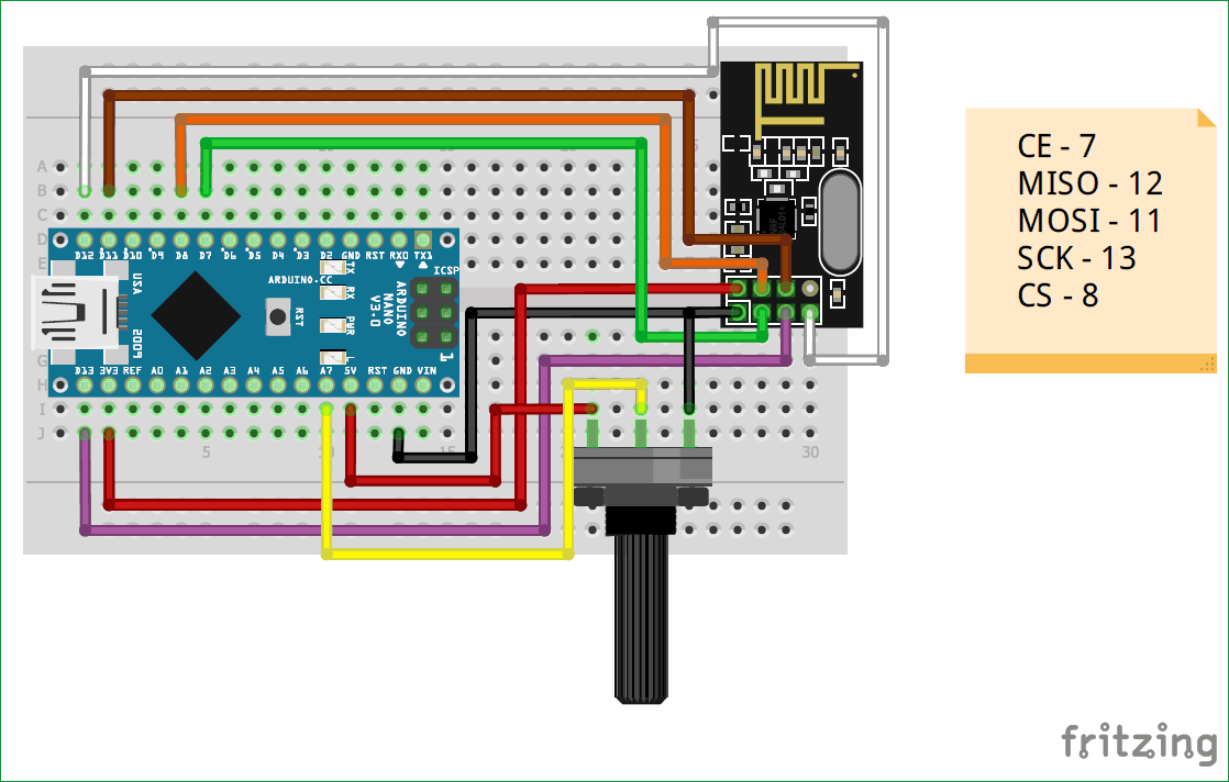Arduion Nrf24l01 Transmitter Circuit Diagram Arduino Projects