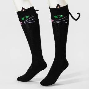 4169a3712a6 Women s 3D Black Cat Knee-High Socks - Merona™ Black - One Size