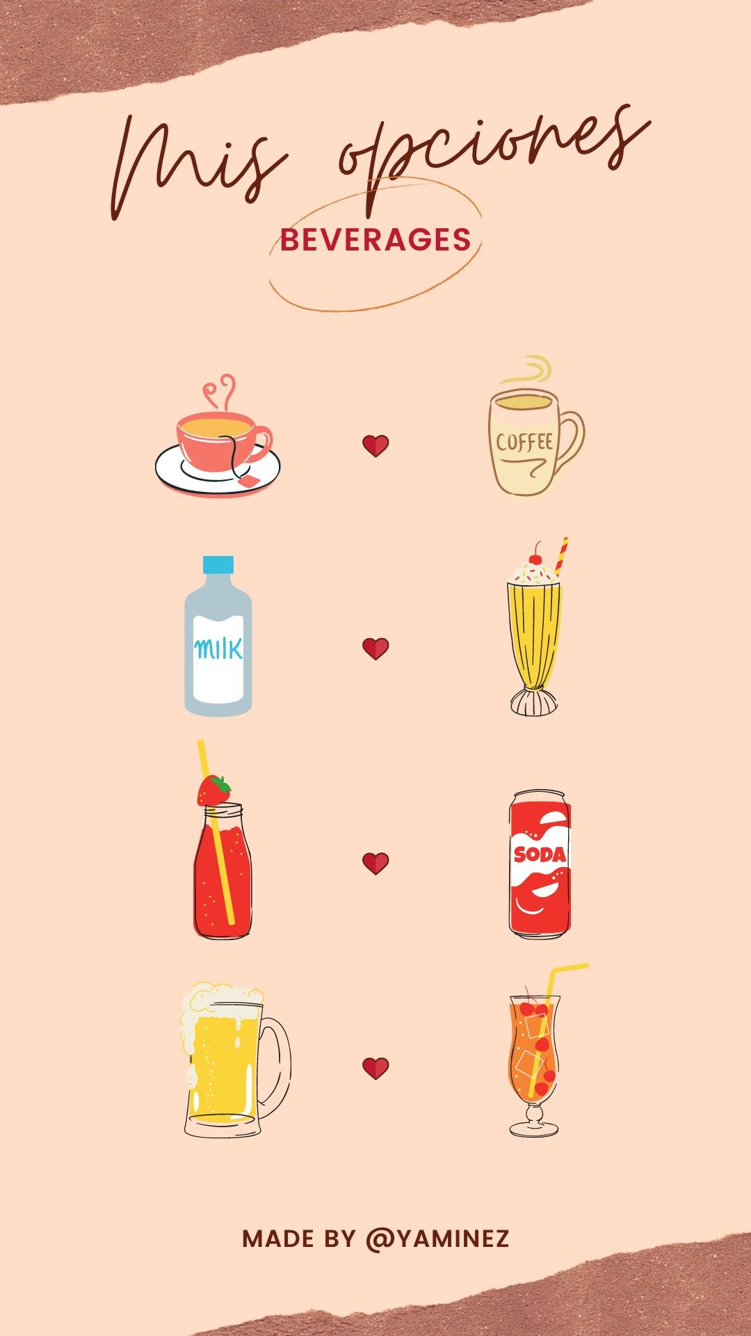 Beverages / Drinks Template in 2020 Instagram story