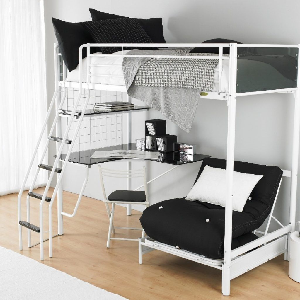 Single Loft Bed With Desk And Chair Loft Beds For Teens Loft Bed With Couch Cool Bunk Beds