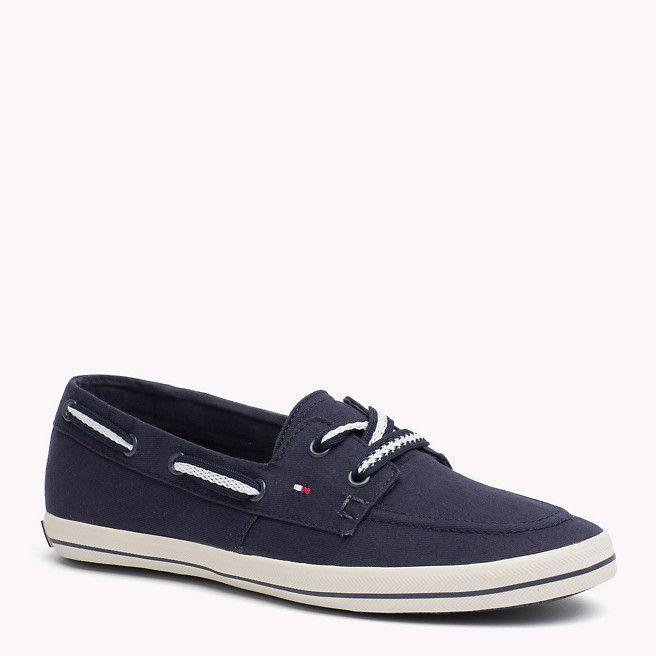 Tommy Hilfiger Instap Sneaker Van Stof - midnight (Blauw) - Tommy Hilfiger  Sneakers -