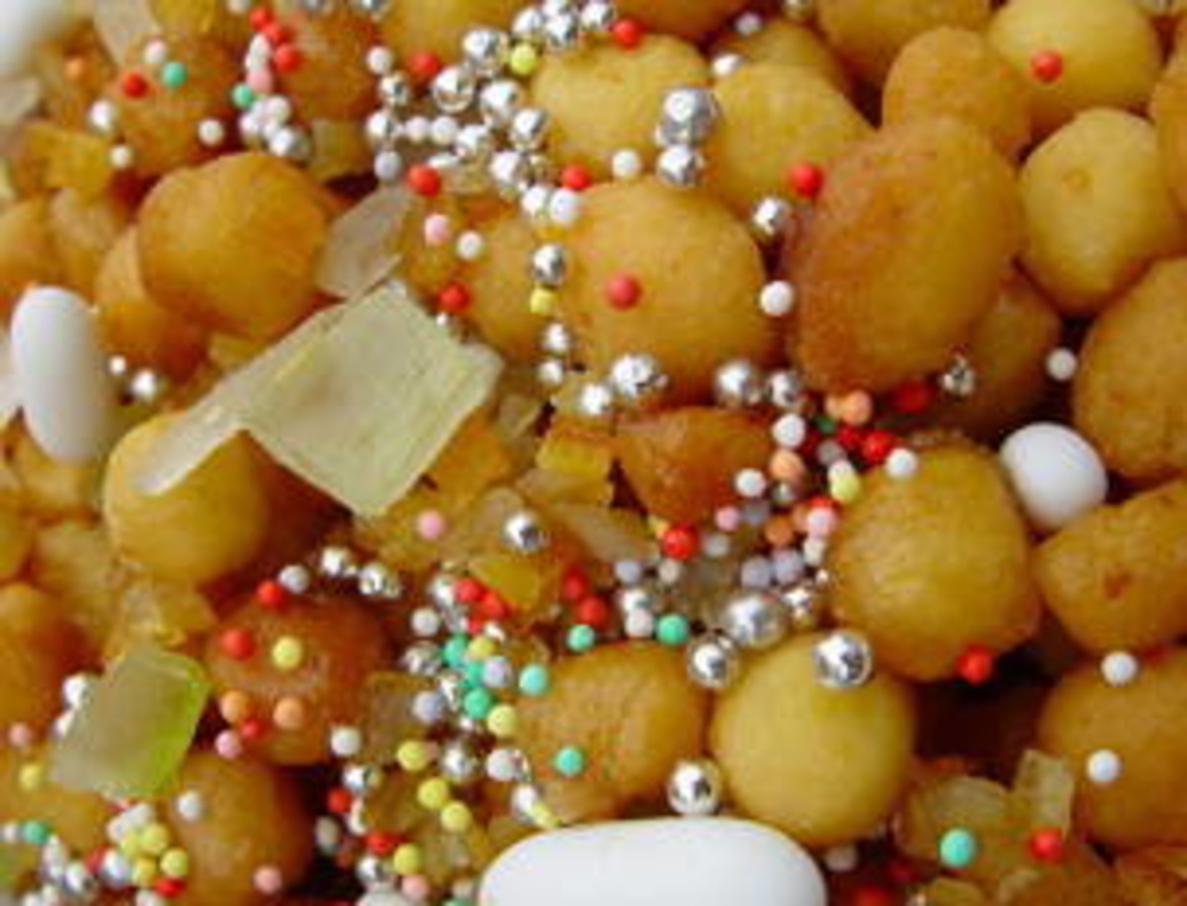 Struffoli Italian Honey Cake Christmas time Honey and Cake