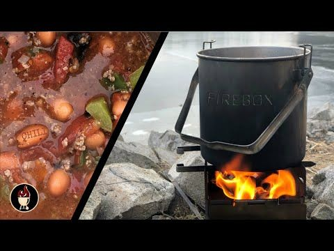 Steak and Chili On The Firebox Stove   Hike and Cook ...