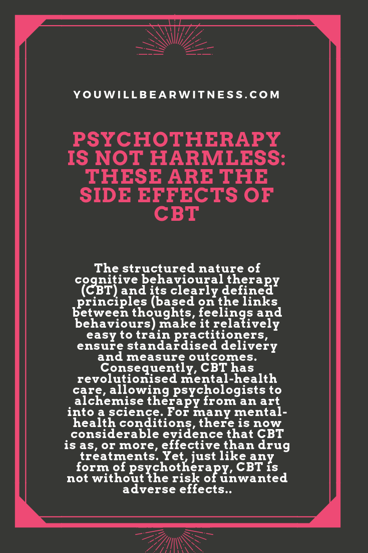the structured nature of cognitive behavioural therapy (cbt) and its