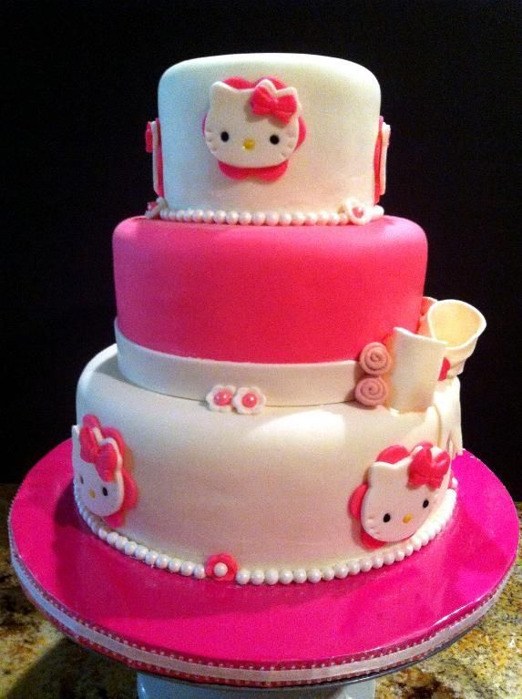 Decor Cake Hello Kitty : Cake Decorating: Hello Kitty 3 Tier Cake Hello kitty ...
