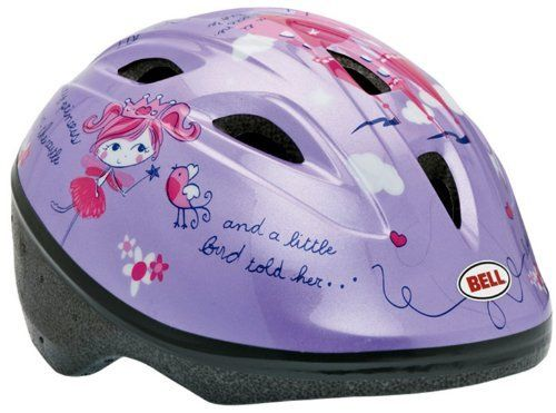 Bell Toddler Zoomer Bike Helmet (Castle/Purple) by Bell. $16.81. Amazon.com                Keep little ones' heads protected while they're riding in child carriers, bike trailers, or just starting to learn on their own bikes, with this youth helmet from Bell. A True Fit feature offers simple, custom sizing every time, while seven top vents keep kids' heads cool. High-impact reflectors improve visibility, and a Pinchguard buckle means no tears when Mom and Dad are snapping the he...