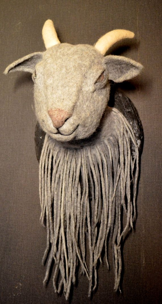 Charmant Goat Home Decor Needle Felted Goat Art Dolls Interior Doll