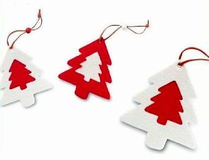 Moda fieltro pino rbol para el rbol de navidad ornamento - Adornos de navidad de fieltro para el arbol ...