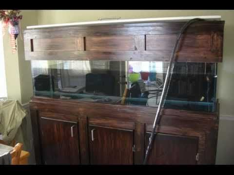 Build your own custom 125 gallon fish tank stand and hood for Custom fish tank stand