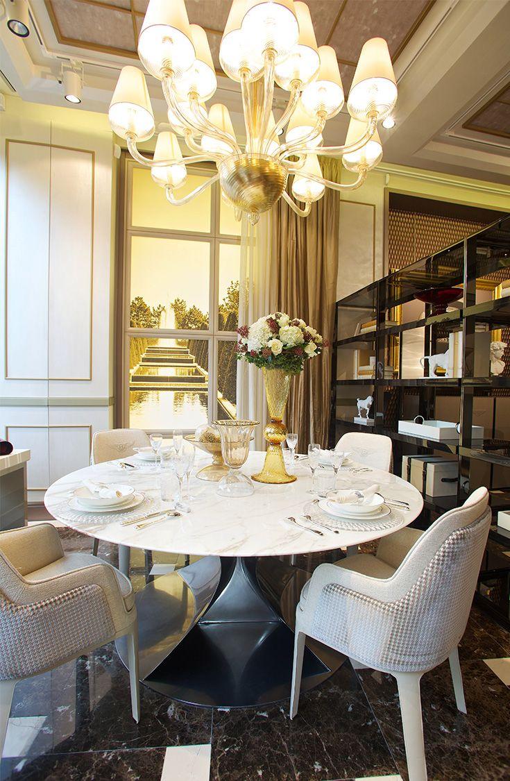 Bentley Home light dining room design in Luxury Living