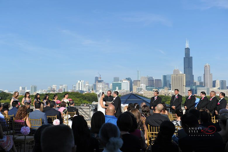 National Italian American Sports Hall of Fame wedding, Chicago skyline ceremony, unique venue (11)