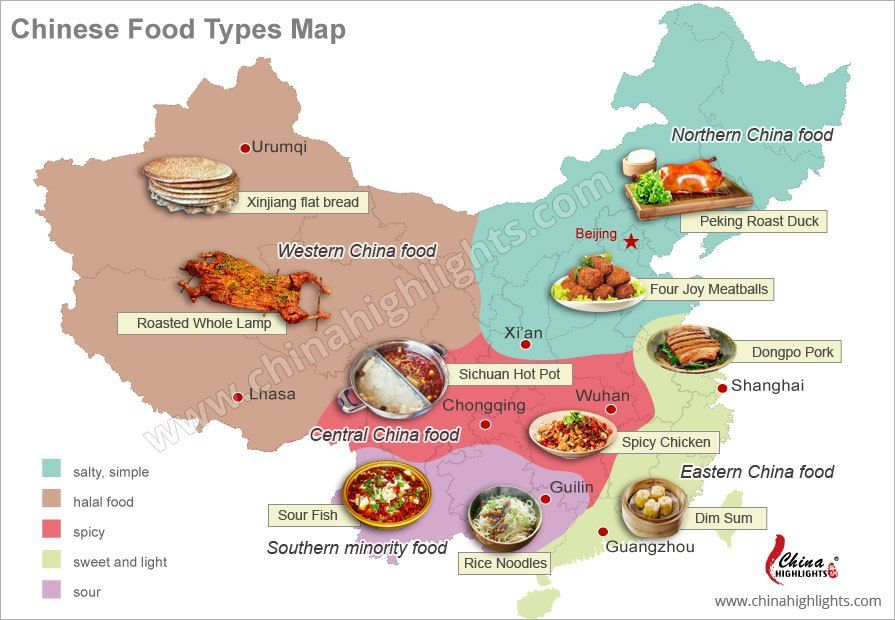 China S Regional Cuisines Chinese Food Types North South Chinese Food Chinese Cuisine China Food