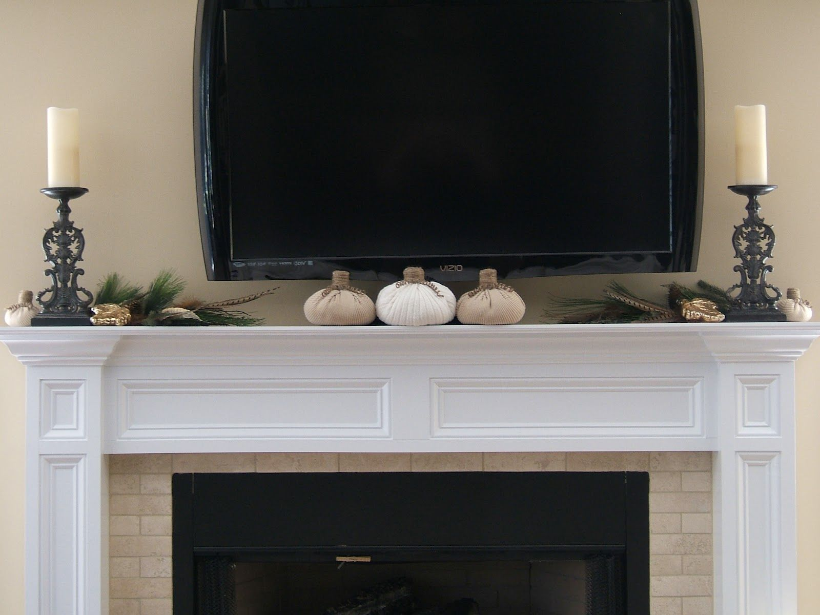 fireplace mantels with tv above what do you do to spiff up a