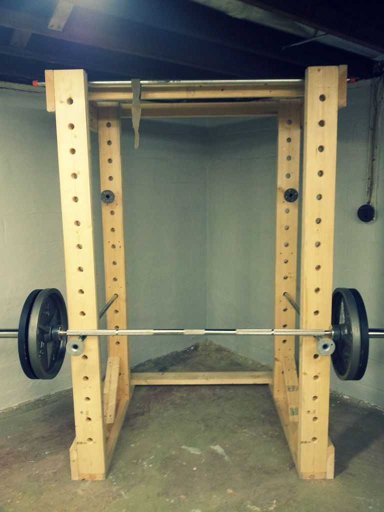 Diy squat rack google search diy gym pinterest for A squat rack