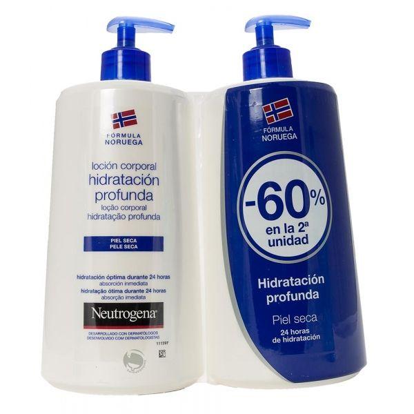 Por la compra de una Neutrógena loción hidratante la segunda unidad con un 60% de descuento.